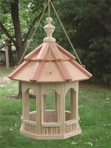 Amish Hanging Gazebo Garden Bird Feeder