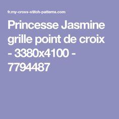 Princesse Jasmine grille point de croix - 3380x4100 - 7794487