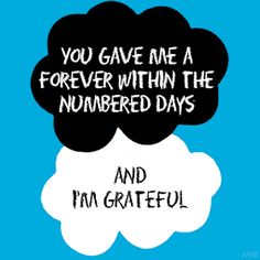 My fave The Fault in Our Stars quote :')
