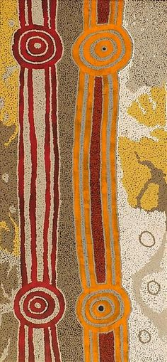 "Neville ""Cobra"" Japangardi Poulson / Pikilyi Jukurrpa (Vaughan Springs Dreaming) 107 x 46 cm"