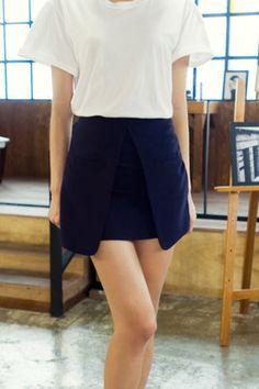 split skirt from Kakuu Basic. Saved to Kakuu Basic Skirts. Shop more products from Kakuu Basic on Wanelo. Seoul Fashion, Korean Street Fashion, Split Skirt, Online Fashion Stores, Korean Outfits, Short Dresses, Street Style, Clothes For Women, Skirts
