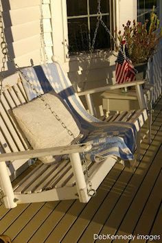 Nothing better at sunset... a porch swing. See more in my Summer / Issue V Sweet ReTreats column
