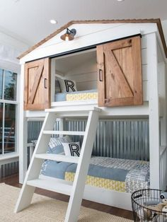 Bunk beds design and room ideas. Most amazing bunk beds for kids. Designing bunk beds that you might like. Bunk Beds With Stairs, Kids Bunk Beds, Boys Bedroom Ideas With Bunk Beds, Little Boy Bedroom Ideas, Kids Beds For Boys, Cool Bedrooms For Boys, Girls Bedroom, Bedroom Decor, Master Bedroom