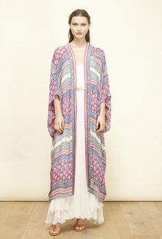 Mes Demoiselles kimono en soie Casa silk kimono (Caravan print) + robe Hermione dress  S/S 2016.
