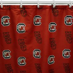 College Covers South Carolina Gamecocks Printed Shower Curtain Cover, Multicolor