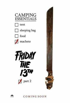 Friday The 13th Part II Horror Posters, Horror Icons, Horror Films, Film Posters, Jason Friday, Friday The 13th, Funny Share, Mommys Boy, Here's Johnny
