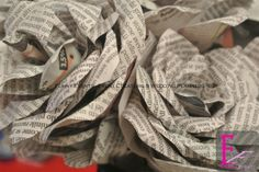 Newspaper Bouquet Tutorial | Funny Events | Wedding & Event Planner | Napoli | www.funnyevents.net | www.funnyeventscorner.wordpress.com | info@funnyevents.net