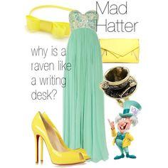 """Mad Hatter"" formal gown by ellalea on Polyvore - Alice in Wonderland"