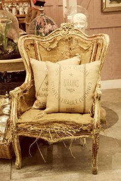 ~Picture this Chair Covered in an Amazing    Fabric.. Oh so BEAUTIFUL IT WOULD BE~