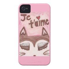 Je t'aime iPhone 4 Case; Abigail Davidson Art