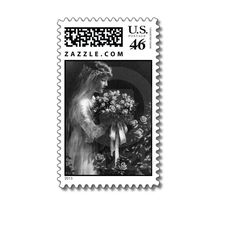 Bride with Roses Wedding Stamps - DesignV2 from Zazzle.com