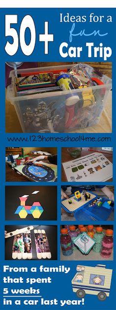 123 Homeschool 4 Me: 50+ Ideas for Car Trip FUN!