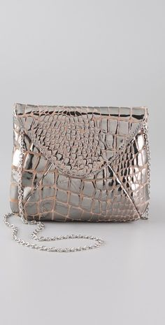 Lauren Merkin Handbags, Riley Croco Bag in Pewter