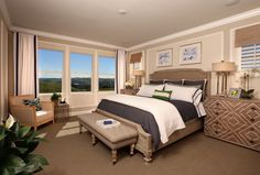 Dream away in this luxurious master bedroom! Colina Plan 1 Master Bedroom | by SheaHomesNoCal