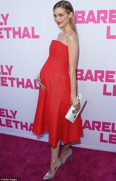Ravishing in red: Jaime King looked stylish as she attended the Hollywood screening of her...