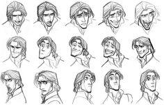 Tangled concept art glen keane disney animation Ideas for 2019 Heroes Disney, Art Disney, Disney Kunst, Disney Style, Tangled Concept Art, Disney Concept Art, Flynn Rider, Character Design Cartoon, Character Design References