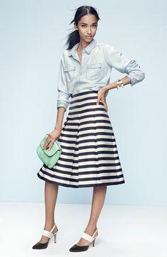 Halogen® Pleat Midi Skirt (Regular & Petite) available at #Nordstrom
