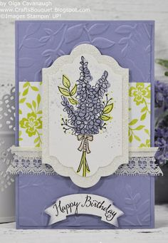 Crafts Bouquet: Stampin'UP! Lots of Lavender Birthday Card