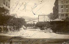 Quartiere di Catelletto con le strade ancora di terra battuta GENOVA - Castelletto - FOTO STORICHE CARTOLINE ANTICHE E RICORDI DELLA LIGURIA