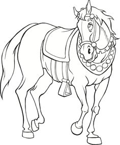 Medieval Horse (coloring page)