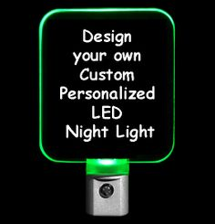 Personalized Night Light, Design your own Night Light #personalizedgift #LED #CLEVELAND