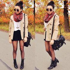 Burgundy scarf (by Pam S) http://lookbook.nu/look/4169142-burgundy-scarf