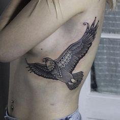 Bird Tattoos for Women Stomach Tattoos Women, Rib Tattoos For Women, Back Tattoo Women, Belly Tattoos, Inner Arm Tattoos, Side Tattoos, Cool Tattoos, Music Tattoos, Arrow Tattoos