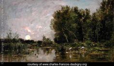 Moonrise, 1877 - Charles-Francois Daubigny - www.charles-francois-daubigny.org