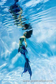 mermaid underwater pool photography