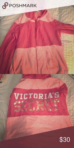 Victoria's Secret zip up Super comfy! Victoria's Secret Tops Sweatshirts & Hoodies