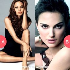 Who is prettier? Angelina Jolie or Natalie Portman? Click here to vote @ http://getwishboneapp.com/share/2493885