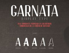 Garnata / Free font / #condensed #display #sans_serif