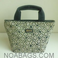 "91d0454c06a4 Jim Thompson ""Elwood Bag""- Small Luxury Handbag Patterns Circles – Black   amp"