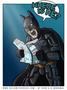 "How Batman reads ""Where's Waldo."""