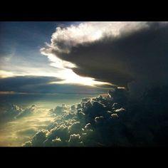 From the plane window. Like heaven :)