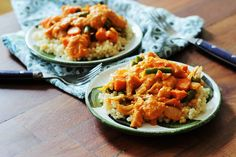 Vegan African Peanut Stew Over Couscous - Peaceful Dumpling | Peaceful Dumpling