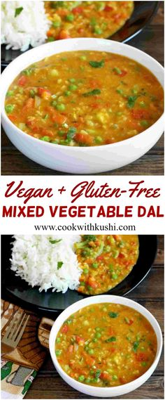 Mixed Vegetable Dal is a healthy, nutritious and a flavorful vegan recipe that is an alternative to traditional dal and can be prepared in less than 25 minutes. #vegan #glutenfree #dinner #lunch #diet #recipe #dal #indian #spicy #feedfeed #bhgfood #buzzfeedfood