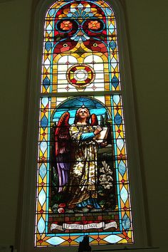 Beautiful stained glass window.....