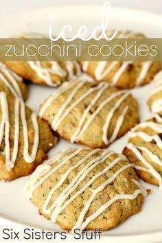 iced zucchini cookies