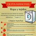 Infografía con trucos para eliminar manchas de la ropa