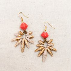 Agave Blossom Earrings by 31 Bits - SET & STYLE