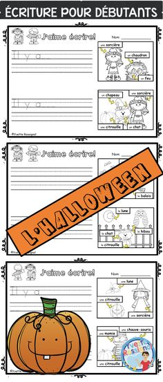 These French easy writing prompts with labels, sight words and Halloween theme vocabulary are perfect for primary French immersion! Print and go, NO prep! Common Core Activities, Writing Activities, Halloween Writing Prompts, French Sentences, Communication Orale, Theme Halloween, Reading Recovery, French Resources, French Immersion