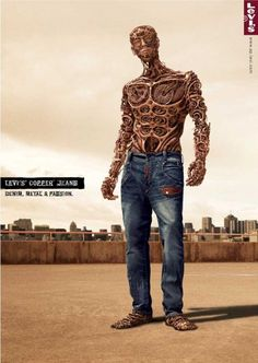 Levis is now the outfitter of the steampunk community.  #Levis #advertising #steampunk