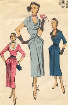 1950s Vintage Advance 5634 Sewing Pattern by GreyDogVintage, $45.00
