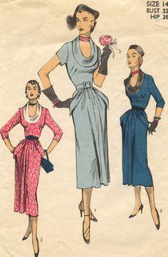 1950s Vintage Advance 5634 Sewing Pattern by GreyDogVintage, $45.00