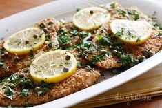 Flounder Piccata Recipe Wine Butter, Butter Sauce, Salmon Burgers, Gratin, Weight Watchers Flounder Recipe, Skinny Taste, Baked Flounder, Flounder Recipes, Skinny Recipes