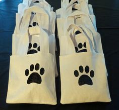 Canvas Goodie Bags (puppy party)
