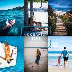 Summer Photos, Lightroom Presets, Instagram Feed, Summer Time, Filters, Ocean, Etsy Shop, Marketing, Blue
