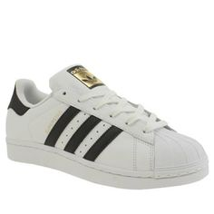 Adidas White & Black Superstar Foundation Trainers