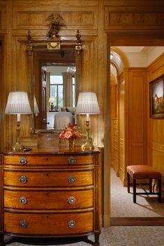Dressing room with medium toned wood paneling - John B. Murray Architect - full size image here: www.jbmarchitect.com/img/0507/hisdressingroom.jpg